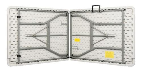 mesa plegable alta calidad color  blanco 180x74x75 cms
