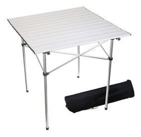 Mesa 70x70 Plegable Camping Rc Playa Aluminio Livianabolso TlJ3ucK1F