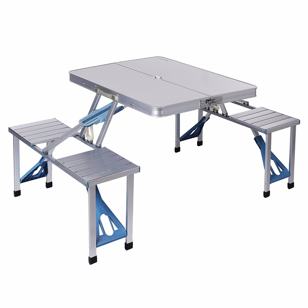 Mesa plegable ancheer aluminio tabla portable 4 asientos for Mesa plegable aluminio