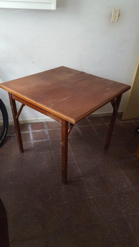 mesa plegable antigua de juego