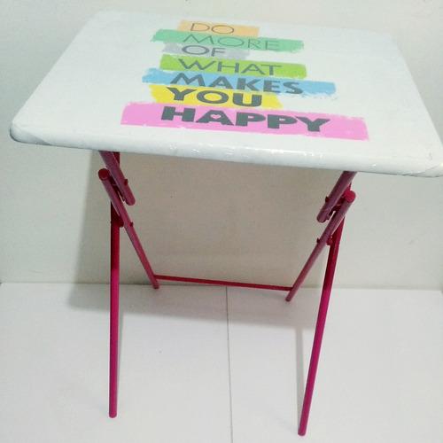mesa plegable auxiliar con diseño 48 x 39 + envio gratis