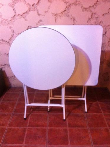 mesa plegable blanca 60x60 melamina-aluminio