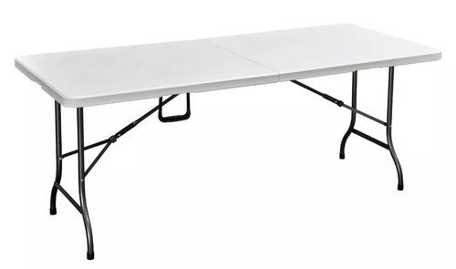 mesa plegable blanca valija para exterior 180 mi casa