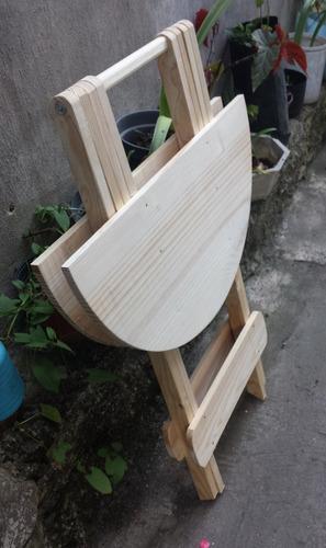 mesa plegable circular (60 diametr - 75 altura)  resistente!