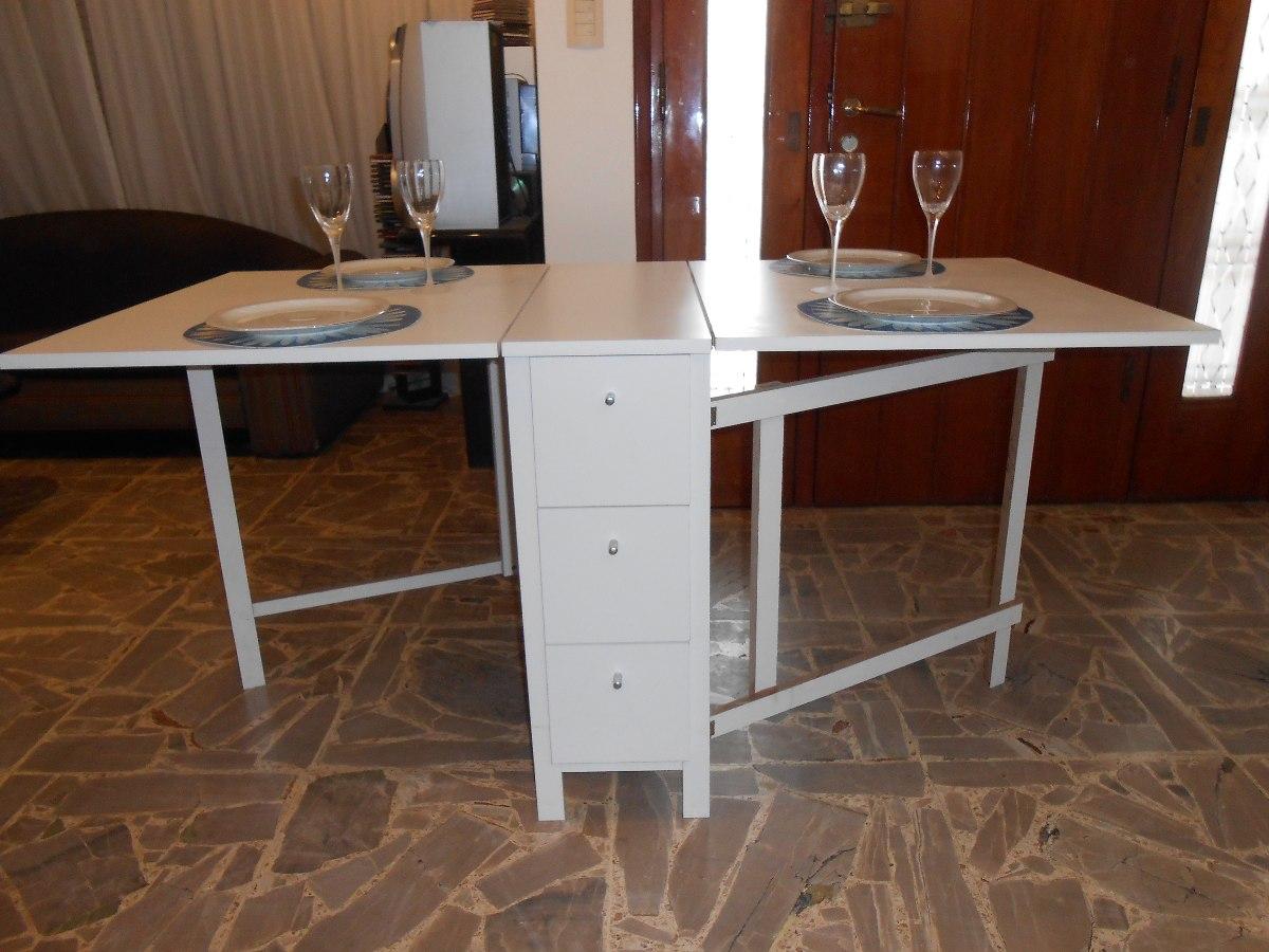 Mesa Plegable Cocina Comedor Madera Auxiliar Melamina - $ 4.300,00 ...