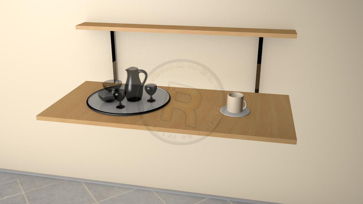 Mesa Plegable Cocina Escritorio Todo En Uno Romanell  # Muebles Todo En Uno