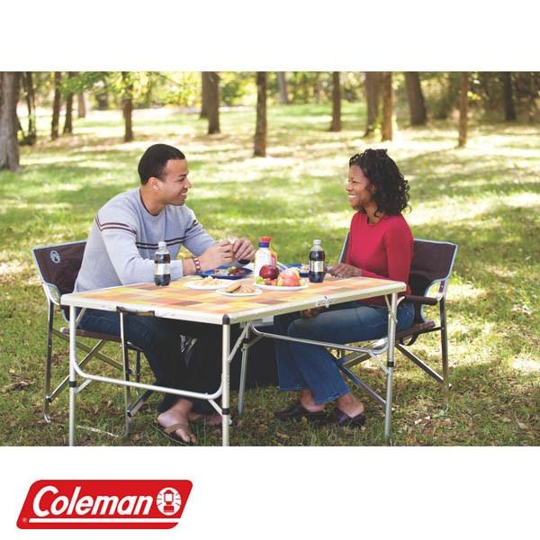 Camping Mesa Personas 4 De Plegable Coleman Para Aluminio lFc1KJT
