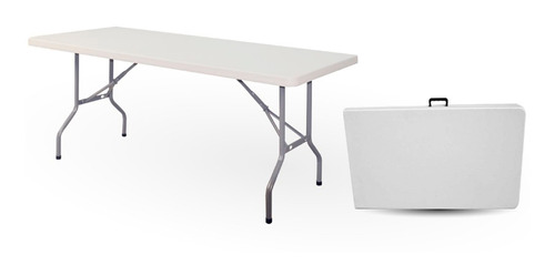 mesa plegable color blanco 1,80mx0,75m importada de calidad