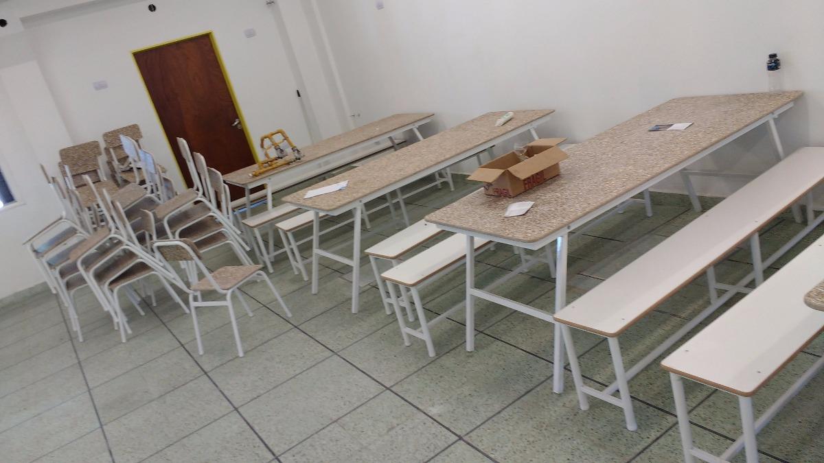 Plegable Mesa Escolar Dos Bancos Fijos Con Comedor 6gvbfY7y