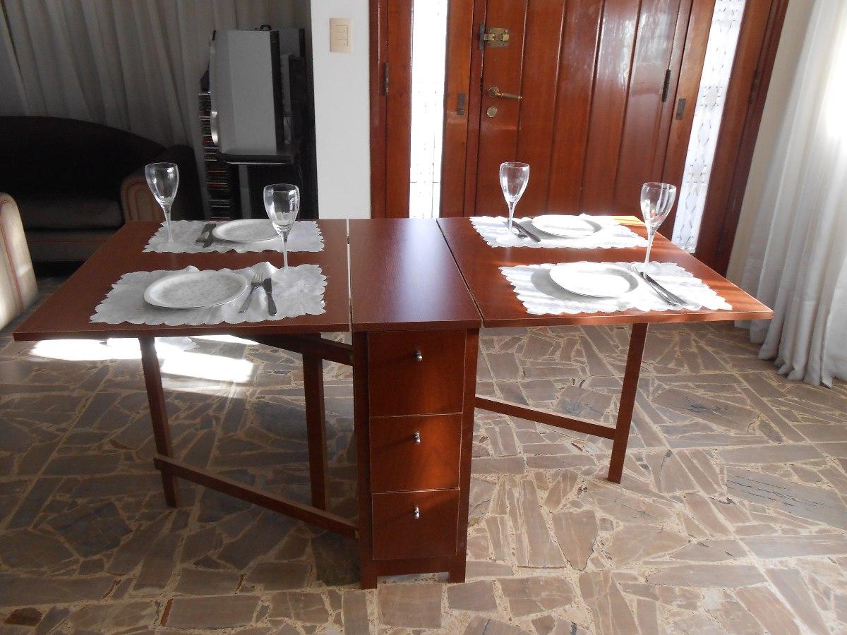 Mesa Plegable Comedor Madera Auxiliar Melamina - $ 4.380,00 en ...