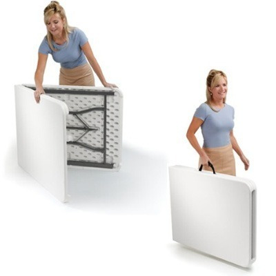 mesa plegable compactable portafolios 1.83 mts de largo