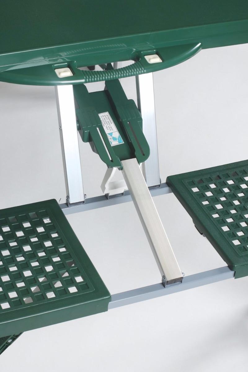 Mesa plegable con asientos y paraguas incluido para playa for Mesa plegable con asientos