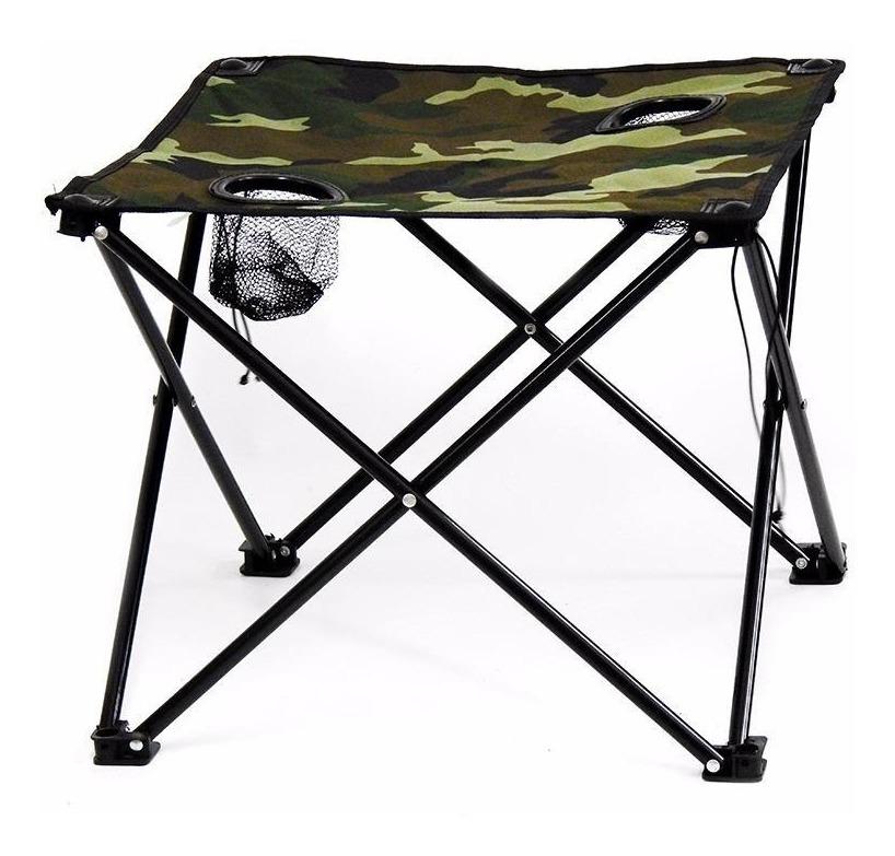 Apoya Mesa Para Plegable Vasos Ideal Con Dos Camping w08nkOP