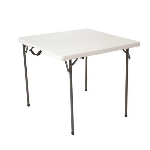 mesa plegable cuadrada 34  blanca - lifetime