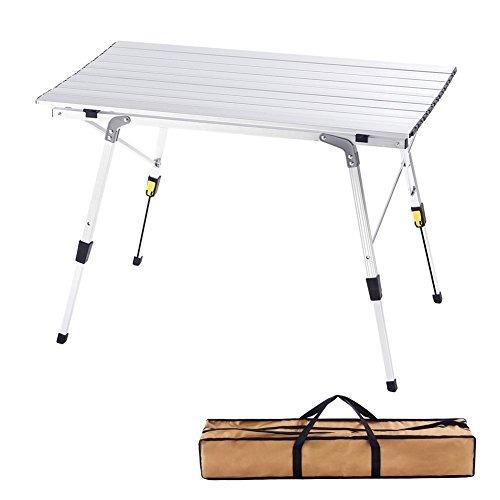 Mesa Ajustable Altura Plegable Para Acampar L Aluminio De 8wvmNn0