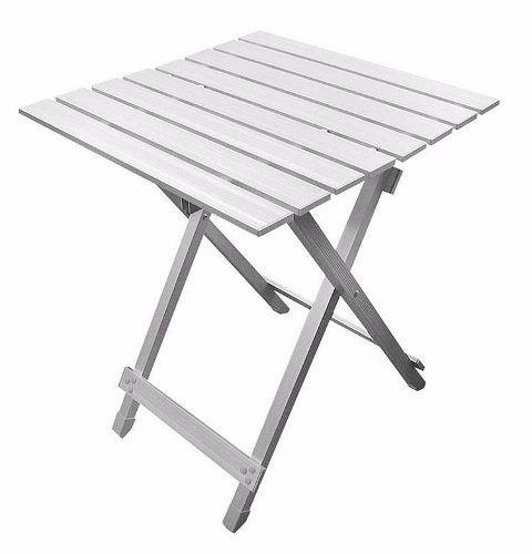Mesa plegable de aluminio en mercado libre for Mesa plegable de aluminio para camping