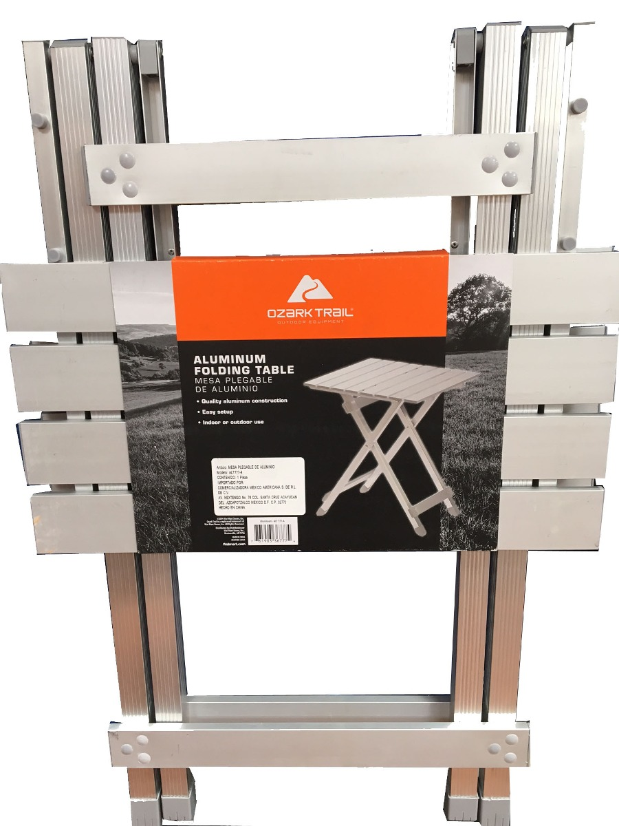 Mesa plegable de aluminio en mercado libre for Mesa de camping plegable de aluminio