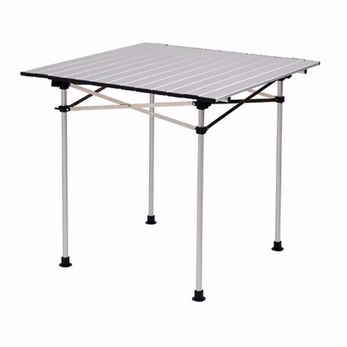 Mesa plegable de aluminio para campismo coleman camping for Mesa de camping plegable de aluminio