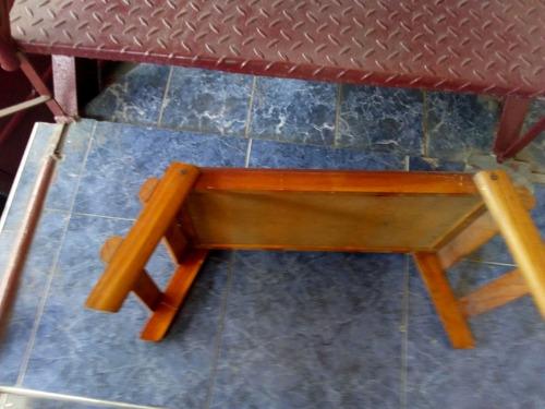 mesa plegable de comer en cama multiuso en madera