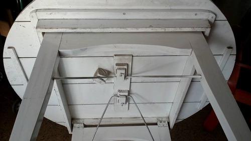 mesa plegable de madera 1.20m
