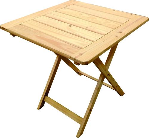mesa plegable de madera 75x75. bar patio jardin terraza sum