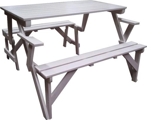 Mesa plegable de madera 6 en mercado libre for Mesa plegable mercado libre