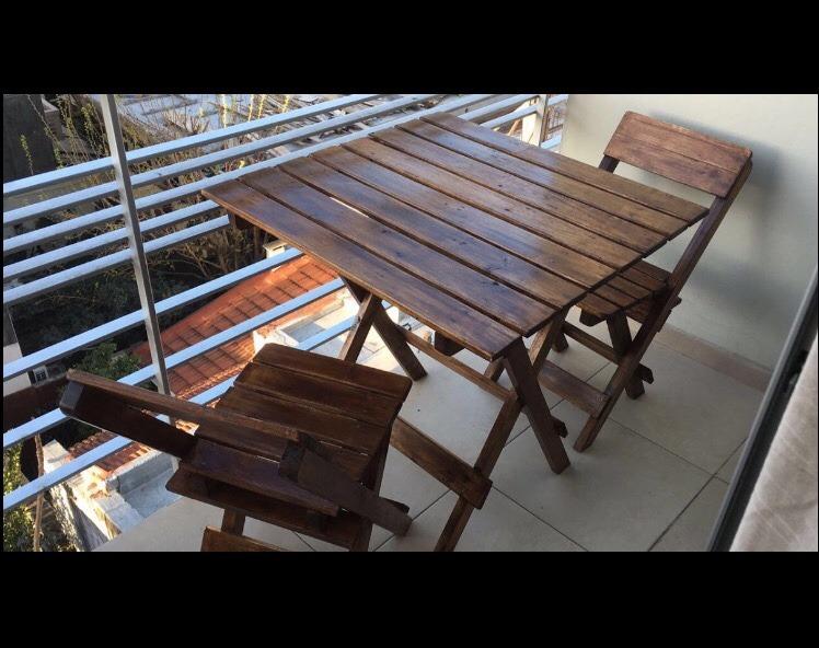 Mesa Plegable Patio Jardín De Balcón Madera Pnk80Ow