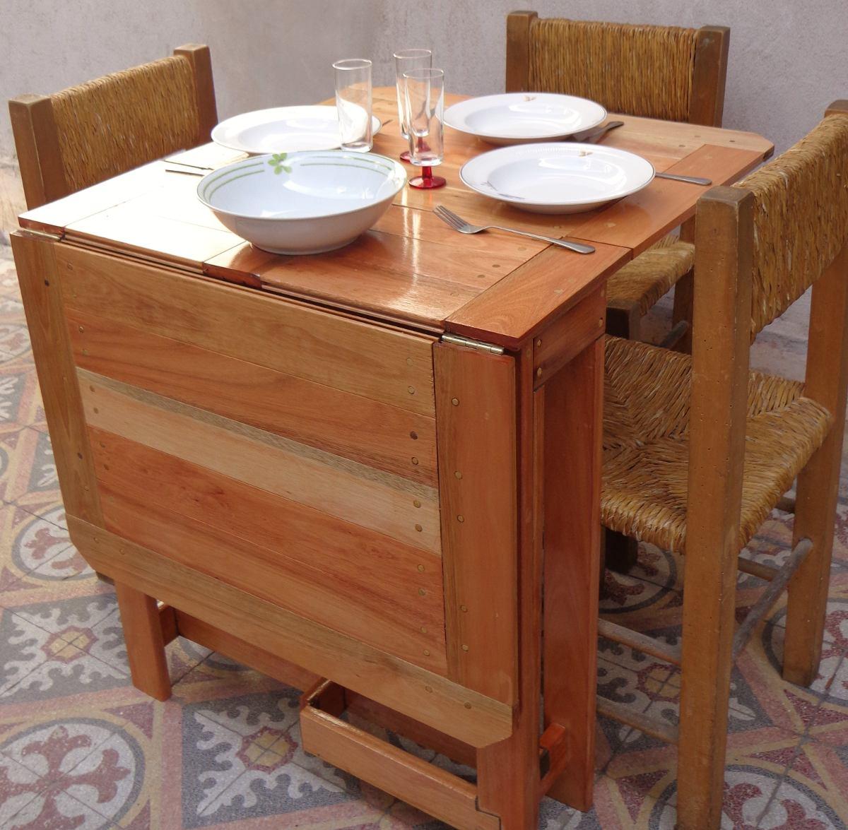 Mesa Plegable De Madera Maciza Rectangular Cocina O Comedor ...