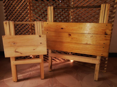 mesa plegable de madera pino