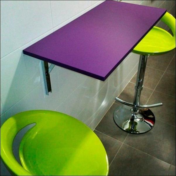Mesa plegable de melamina abatible s 79 99 en mercado libre for Mesa plegable pared