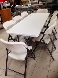 mesa plegable de resina