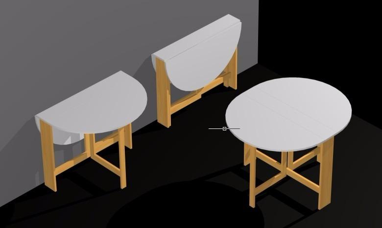 Mesa plegable dise o ideal para departamentos peque os - Mesa plegable diseno ...