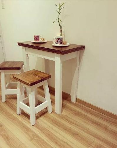 mesa plegable extensible ideal para espacios chicos 2