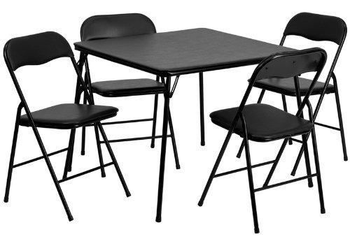 mesa plegable flash furniture set x 5 piezas