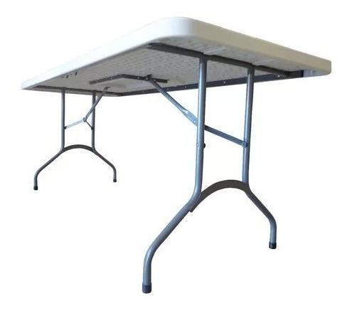 mesa plegable foco quincho jardin fiesta 1,80mts polietileno