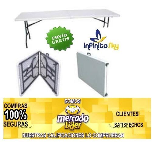 mesa plegable grande tipo maletín 180x74x75+envio gratis