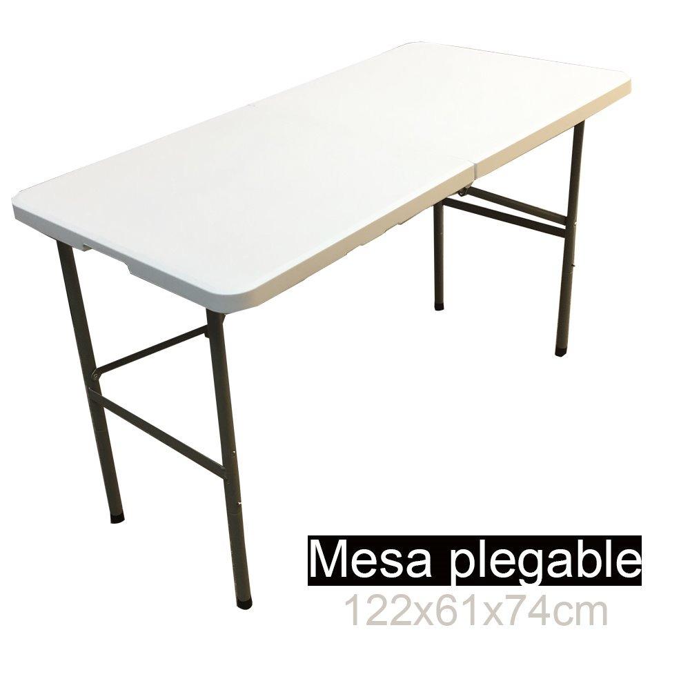 Mesa plegable hdpe maleta camping 122x61x74cm evento for Mesa plegable mercado libre