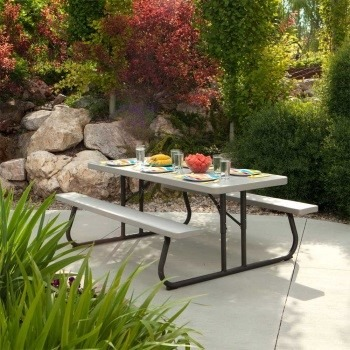 Mesa de picnic lifetime de plegable jardin envio for Mesa jardin plegable