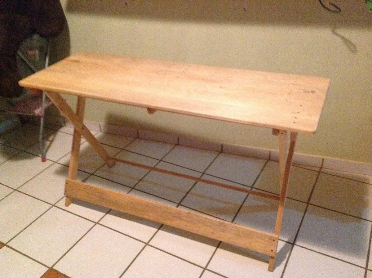 Mesa comedor plegable de madera de pino 1 en - Mesa plegable madera ...