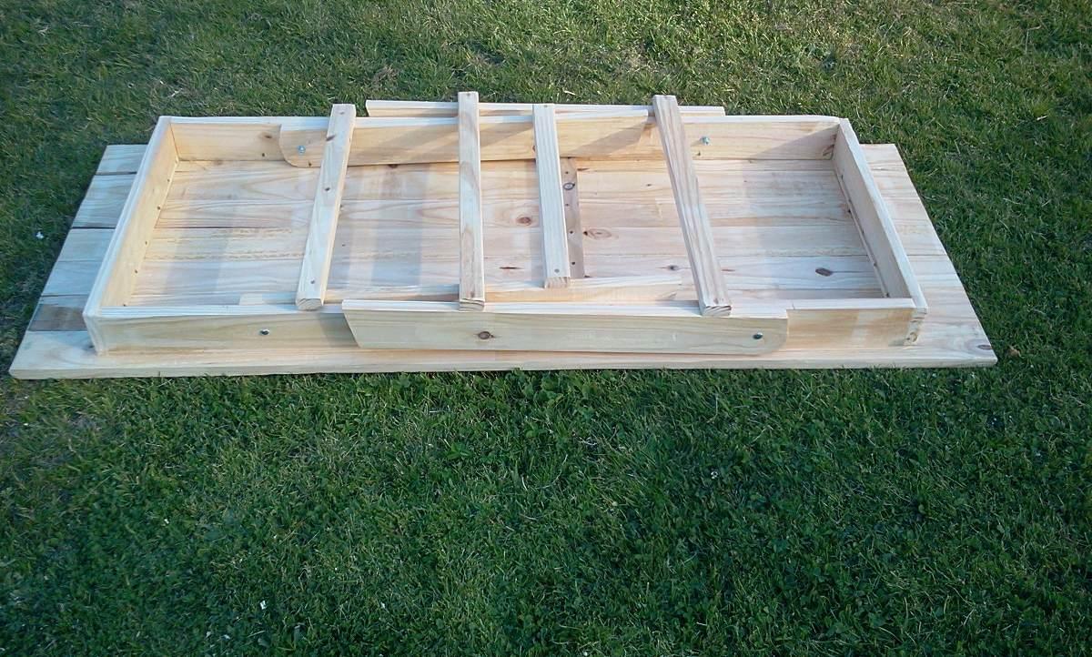 Mesa plegable madera macisa en mercado libre for Mesas madera rustica