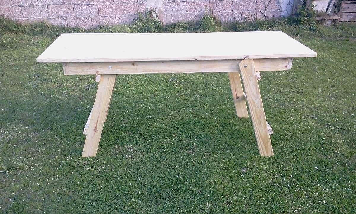 Mesa plegable madera macisa en mercado libre - Mesas de madera plegables para exterior ...