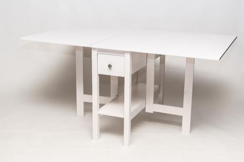 mesa plegable, madera maciza, armado gratis. artico