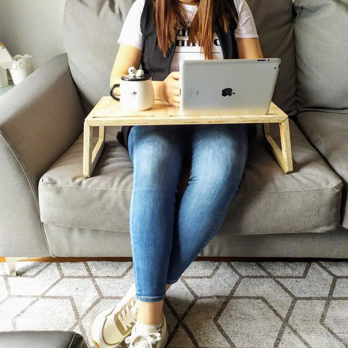mesa plegable madera para computador, tableta, smartphone