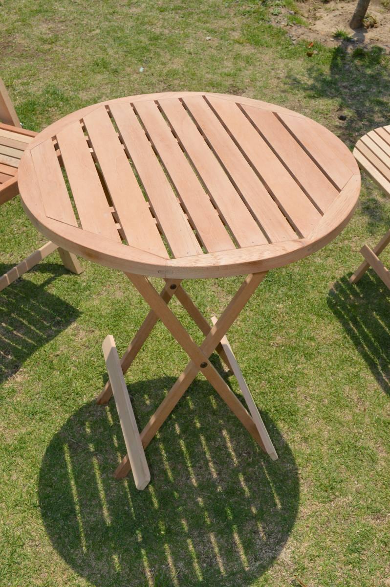 Mesa plegable de madera para jard n y o terraza konetl - Mesas de madera de jardin ...