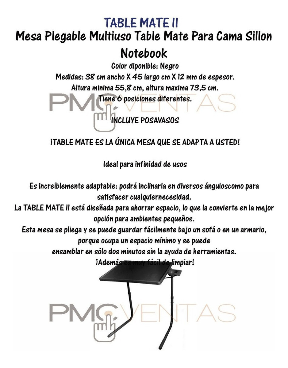 Multiuso Plegable Sillon Mesa Table Cama Notebook Mate Para k8wn0OP