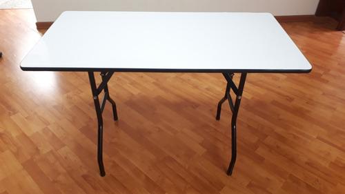 mesa plegable para eventos 60x120 cm en triplex y formica