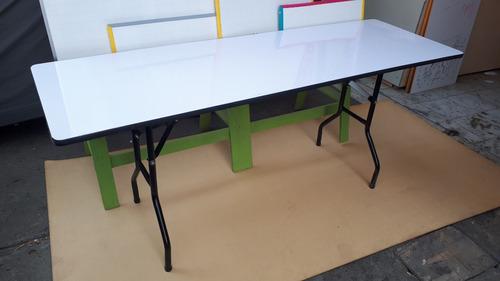 mesa plegable para eventos 60x180 cm en triplex y formica
