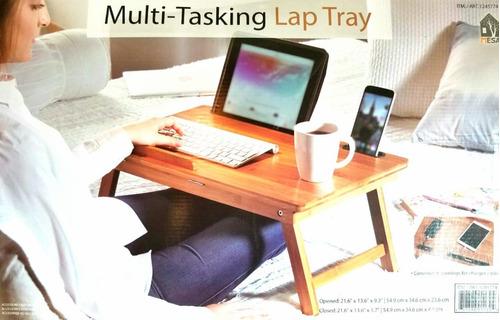 mesa plegable para servicio en cama madera, envío gratis