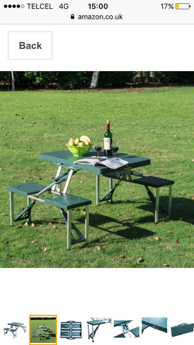 mesa plegable picnic tipo maletín con sombrilla envió gratis