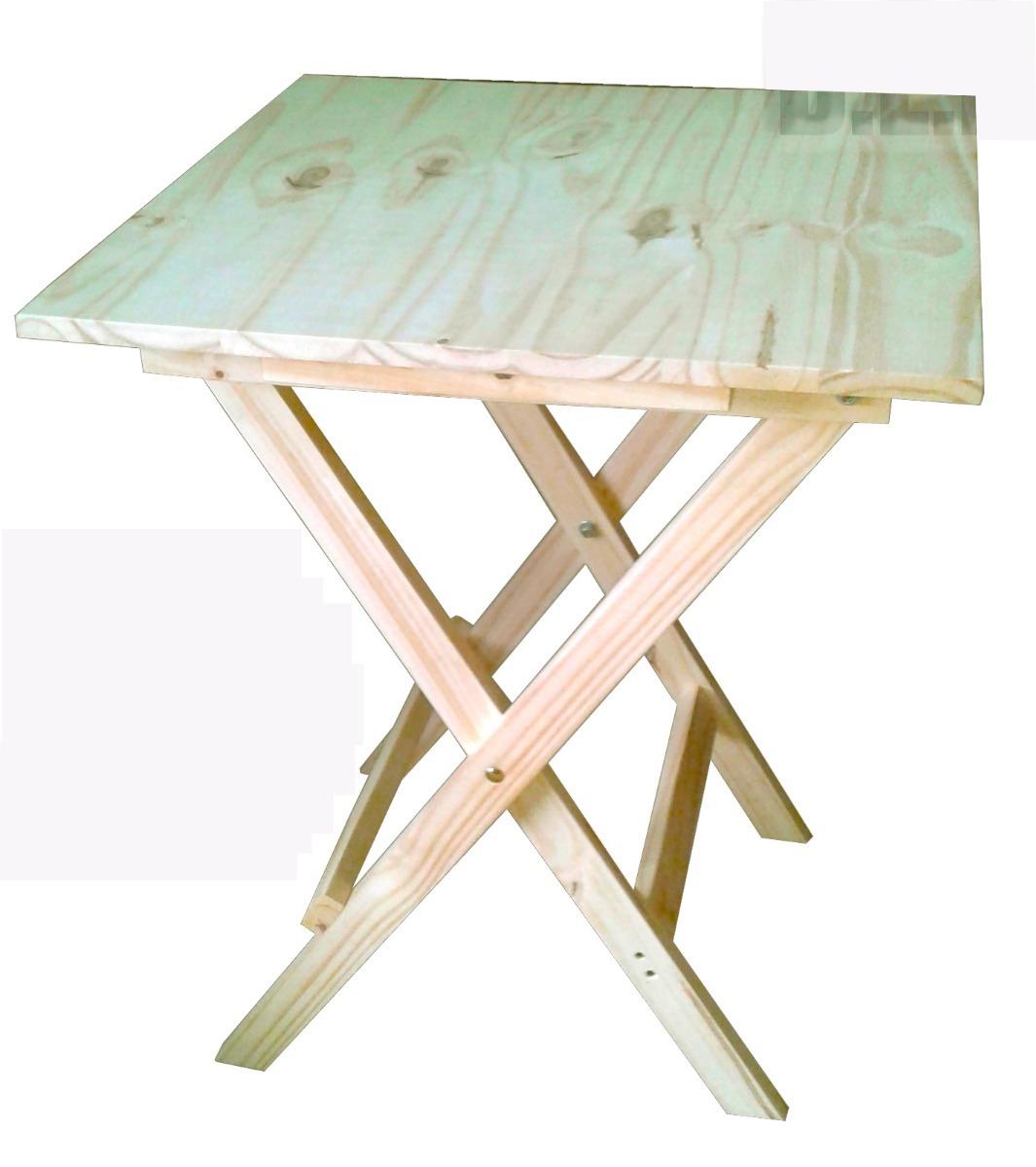 Mesa Plegable Pino 60x60 Jardin Bar Cocina Somos Fabricantes - $ 600 ...